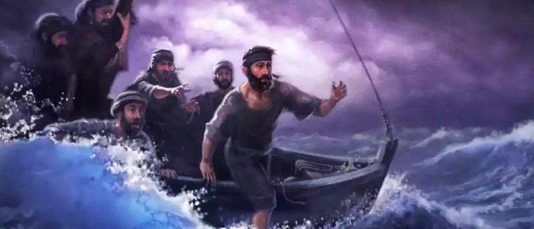 Петр идет по воде
