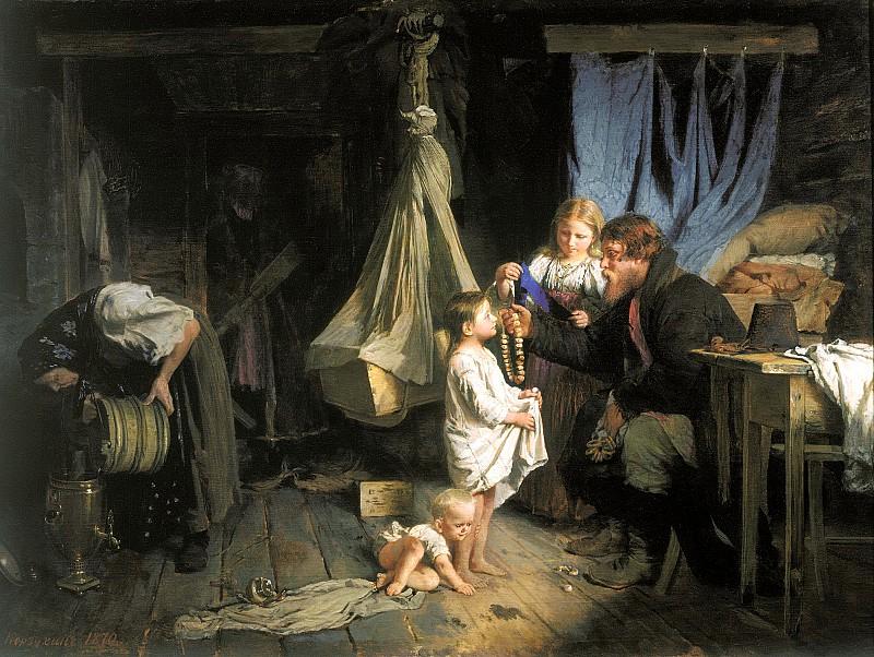 Корзухин Алексей  (1835-1894) «Возвращение из города»