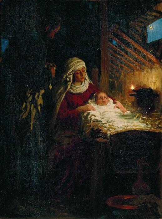 «Рождество Христово» 1890 г. Илья Ефимович Репин